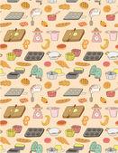 Seamless baking attern — Stock Vector