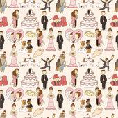 бесшовные свадьба шаблон — Cтоковый вектор