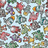 Seamless robot pattern — Stock Vector