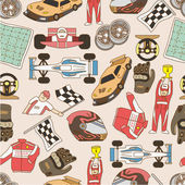 Racing seamless pattern — Vettoriale Stock