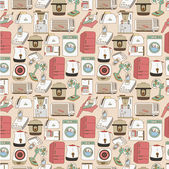 Seamless home appliances pattern — Stock Vector