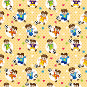 Seamless soccer player pattern — Stock Vector
