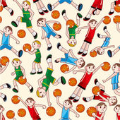 Seamless basketball pattern — Stock Vector