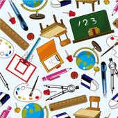 Seamless school element pattern — Stock Vector