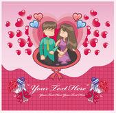 Love card love card — Vettoriale Stock