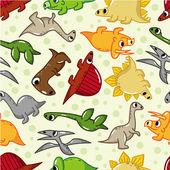 シームレスな恐竜パターン — ストックベクタ