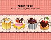 Cake card — Stock Vector