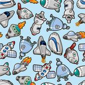 Seamless spaceship pattern — Stock Vector
