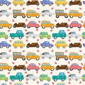 Patrón de coche sin costuras — Vector de stock