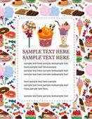Candy cake card — Stock Vector
