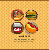 Fast food card — Stockvektor