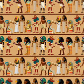 Seamless pharaoh pattern — Stock Vector