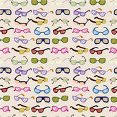 Seamless cartoon Glasses pattern — Stock Vector