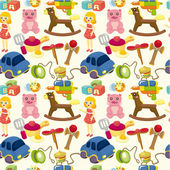 Cartoon child toy seamless pattern — Stock Vector