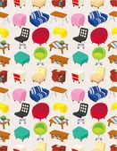 Cartoon Furniture seamless pattern — Stock Vector