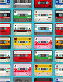 Music tape seamless — Vettoriale Stock