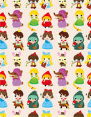 Cartoon story seamless pattern — Vector de stock