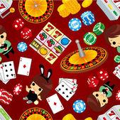 Seamless casino pattern — Stockvektor