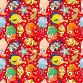 Cartoon fish seamless pattern — Stock Vector