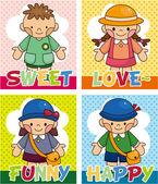 Cartoon kid card — Stock Vector