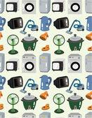 Cartoon Home Appliances seamless pattern — Stock Vector