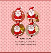 Lindo cartão de Natal — Vetor de Stock