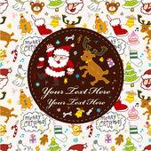 Cute christmas card cute christmas card — Stock Vector
