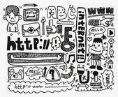 Doodle web element icon set — Stock Vector