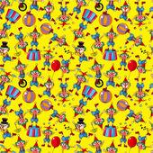 Seamless cartoon circus clown pattern — Stock Vector