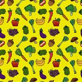 Obst und gemüse nahtlose muster — Stockvektor