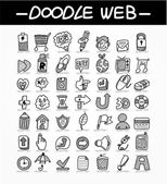 Web doodle icon set — Stock Vector