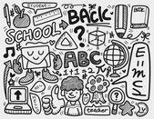 Doodle school — Stock Vector