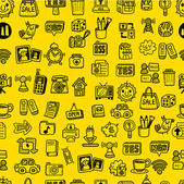 Hand draw web icons seamless pattern — Stock vektor