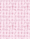 Hand draw baby seamless pattern — Stock Vector