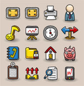 Hand draw web icons collection — Stock Vector