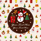 Linda tarjeta de navidad — Vector de stock