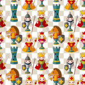 Cartoon chess seamless pattern — Stock Vector