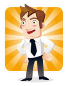 Funny cartoon office worker — Stock Vector
