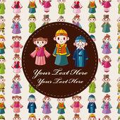 Cartoon chinese card — Stock Vector