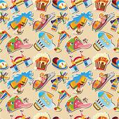Cartoon playground seamless pattern — Stock Vector