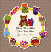 Birthday gift card — Stock Vector