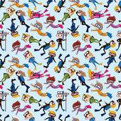 Cartoon diver seamless pattern — Stock Vector