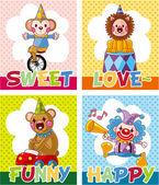 Circus card — Stock Vector