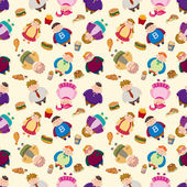 Cartoon Fat seamless pattern — Stock Vector