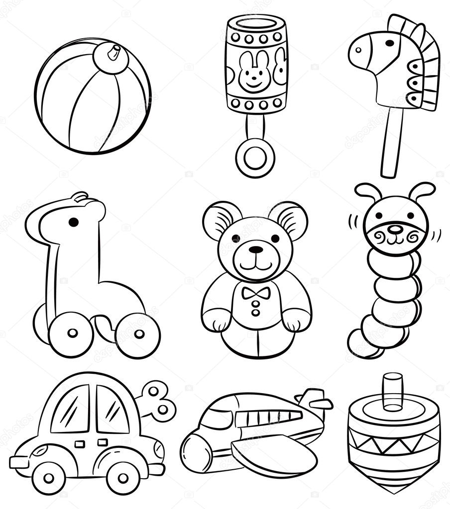 Baby Toys Drawing : Drawings toys