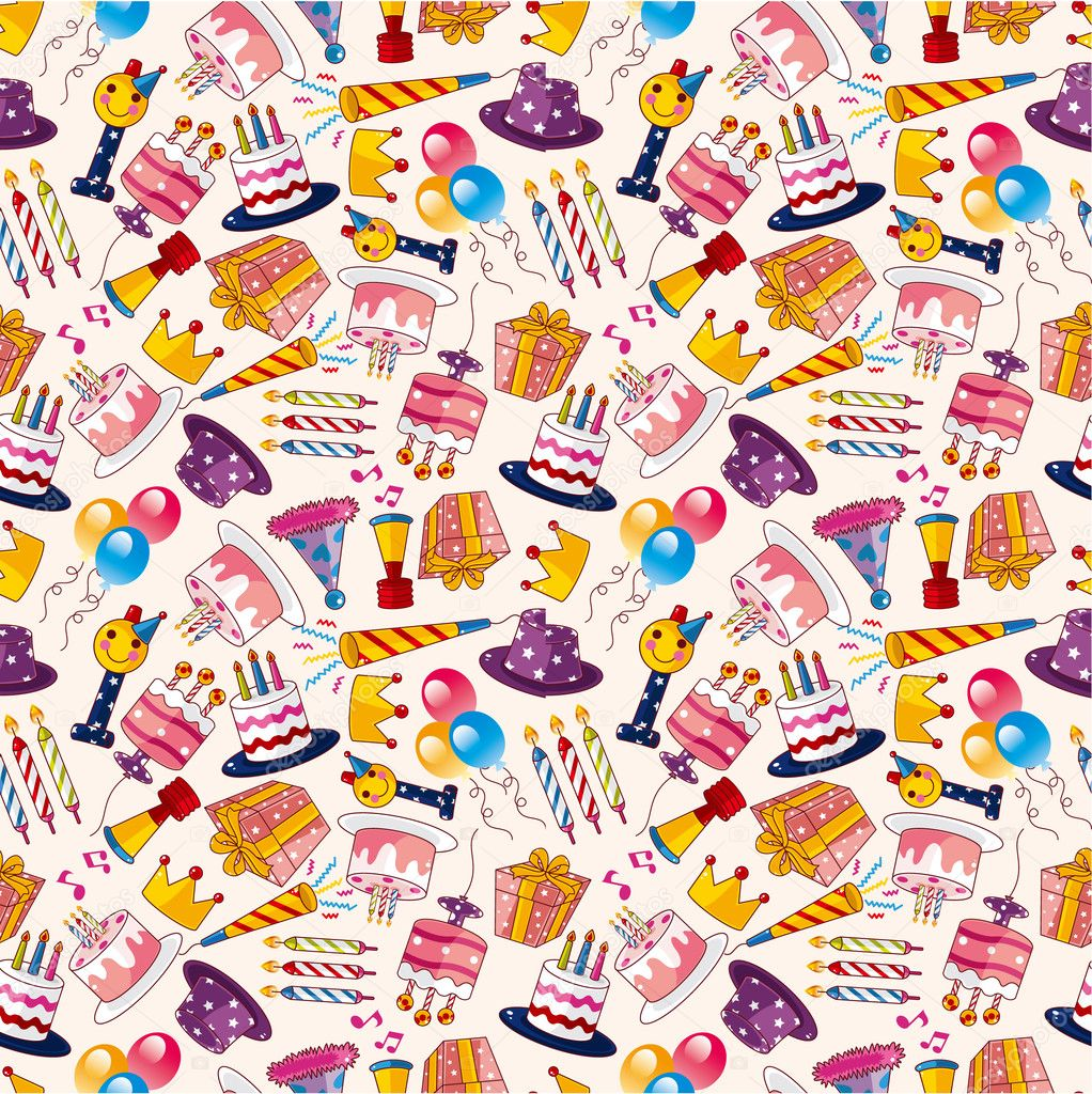 Seamless birthday pattern — Stock Vector #7864595