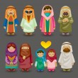 Cartoon Arabian icons - Stock vektor
