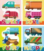 Truck card — Stock Vector