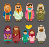 Cartoon Arabian icons — Vecteur