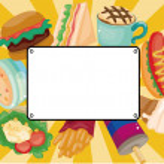 Cartoon fast-food card — Stock Vector #7952562
